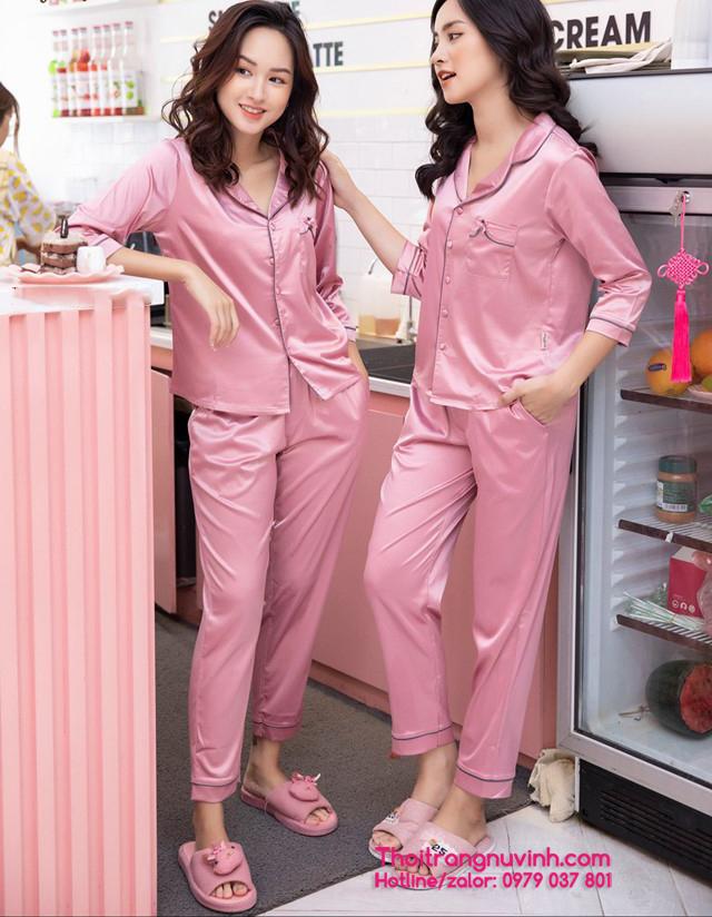 Bộ đồ mặc nhà vải lụa- DL030