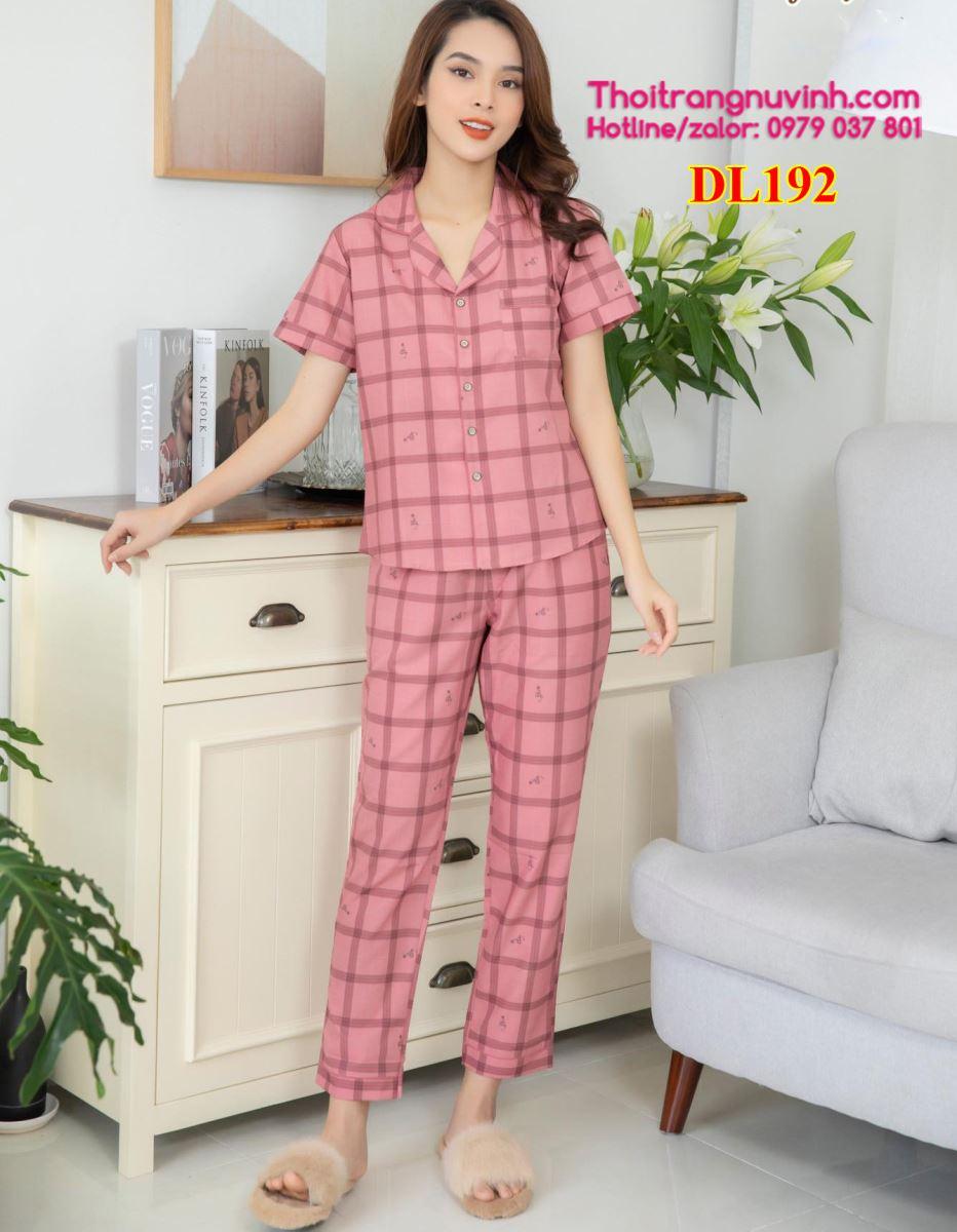 Bộ mặc nhà Pijama Lụa - DL192 - bộ đồ mặc nhà mùa hè,kiểu đồ bộ đẹp,đồ bộ mặc nhà dễ thương,mẫu đồ bộ đẹp,do bo mac nha,bộ đồ mặc nhà,đồ bộ mặc ở nhà,do bo nu,đồ bộ đẹp,đồ bộ nữ
