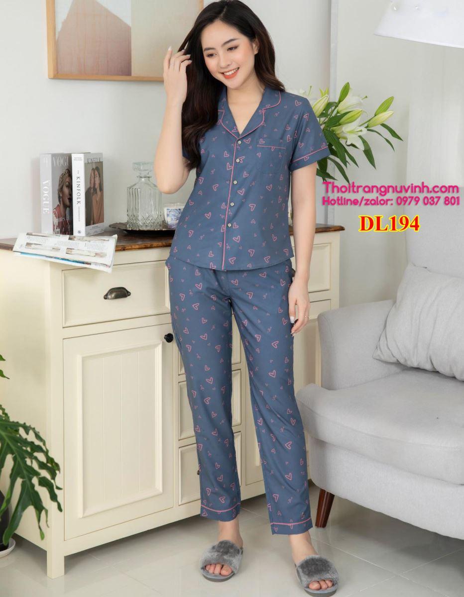Bộ mặc nhà Pijama Lụa - DL194 - bộ đồ mặc nhà mùa hè,kiểu đồ bộ đẹp,đồ bộ mặc nhà dễ thương,mẫu đồ bộ đẹp,do bo mac nha,bộ đồ mặc nhà,đồ bộ mặc ở nhà,do bo nu,đồ bộ đẹp,đồ bộ nữ