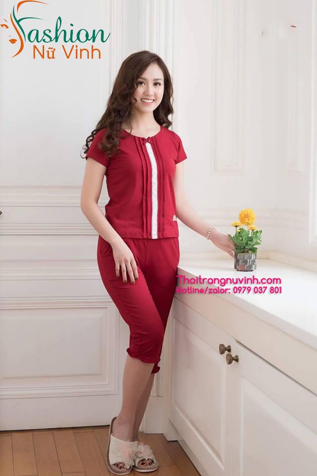 Bộ đồ mặc nhà nữ vải cotton