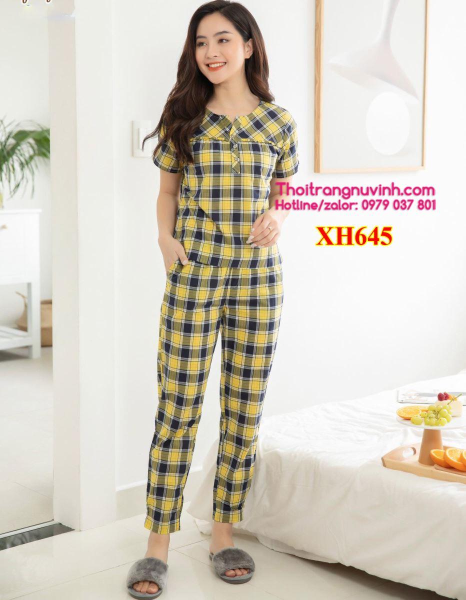 Bộ đồ mặc nhà kẻ caro - XH645 - bộ đồ mặc nhà kẻ caro,mẫu đồ bộ đẹp,bộ đồ mặc nhà,đồ bộ mặc ở nhà,đồ bộ đẹp,đồ bộ kiểu,đồ bộ mặc nhà,đồ mặc nhà,bộ đồ mặc ở nhà,đồ bộ dễ thương
