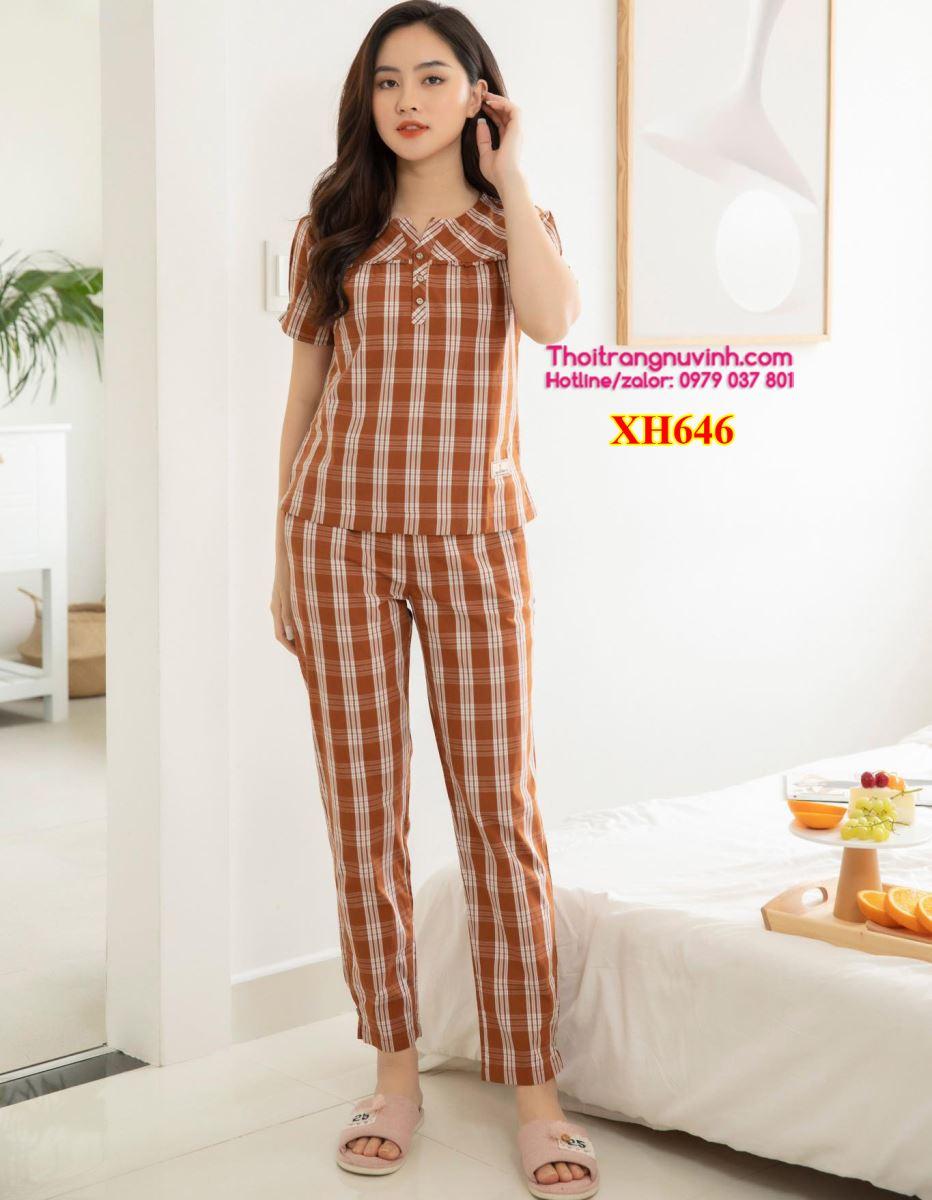 Bộ đồ mặc nhà kẻ caro  - XH646 - bộ đồ mặc nhà kẻ caro,mẫu đồ bộ đẹp,bộ đồ mặc nhà,đồ bộ mặc ở nhà,đồ bộ đẹp,đồ bộ kiểu,đồ bộ mặc nhà,đồ mặc nhà,bộ đồ mặc ở nhà,đồ bộ dễ thương