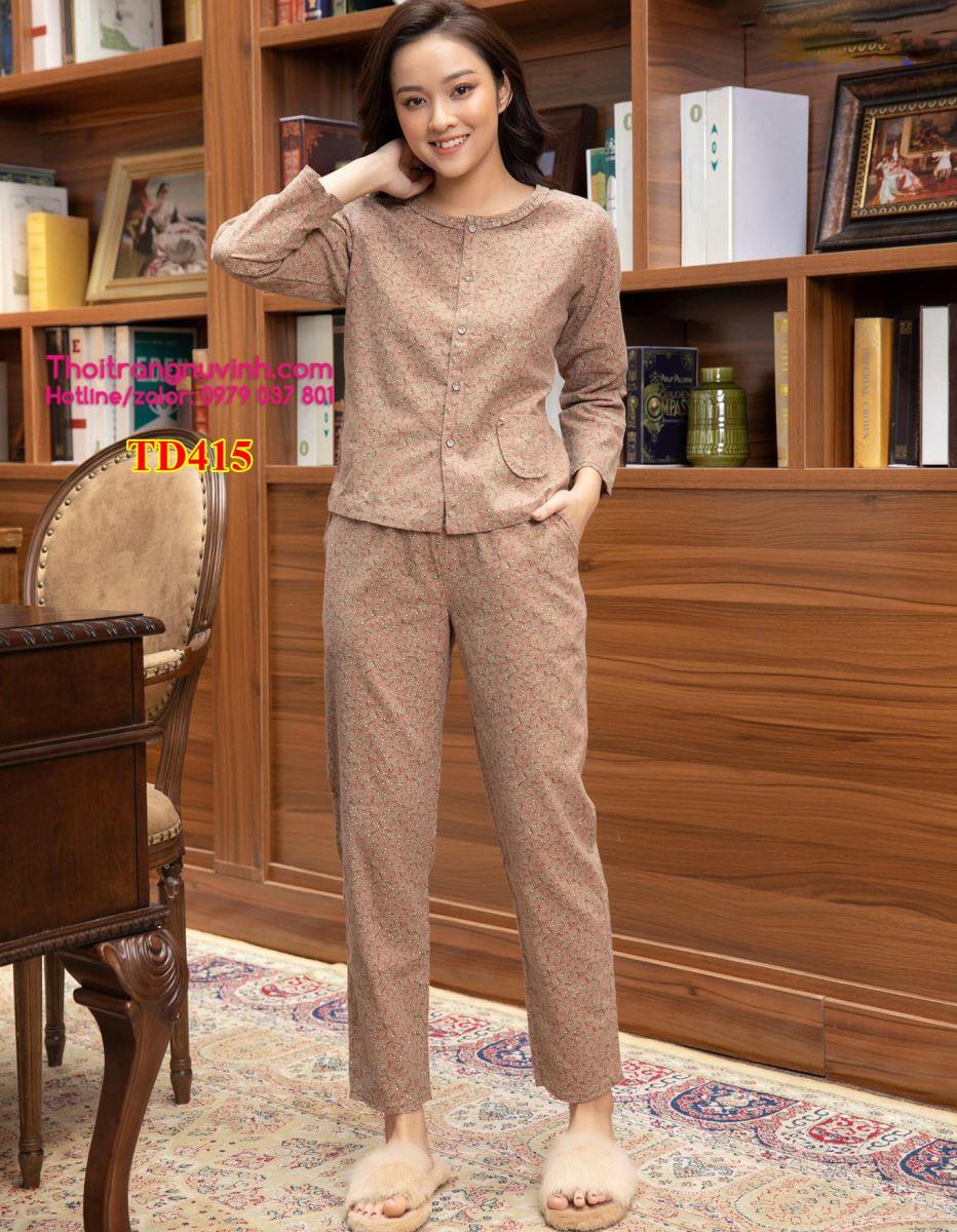 Bộ đồ mặc nhà nữ thu đông - TD415