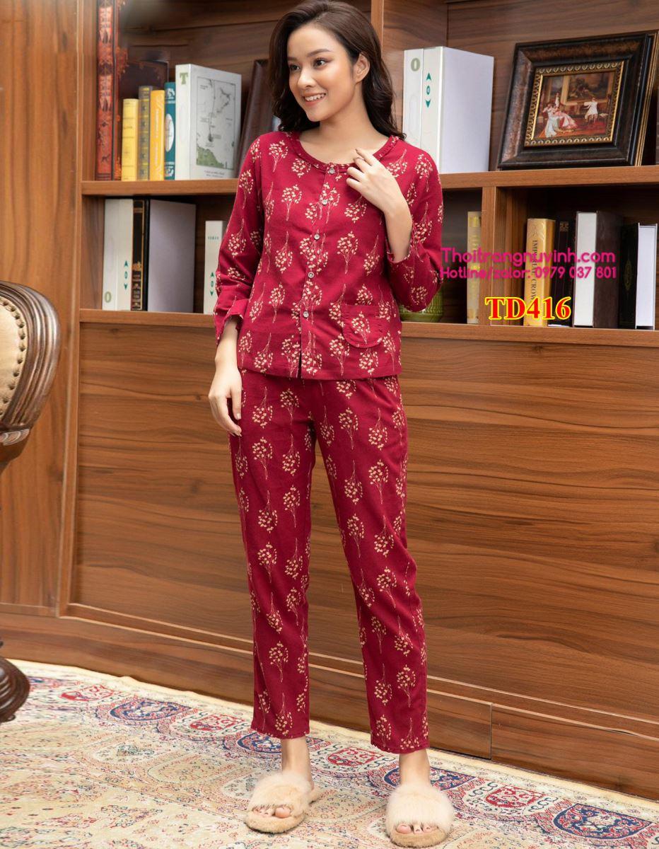 Bộ đồ mặc nhà nữ thu đông - TD416
