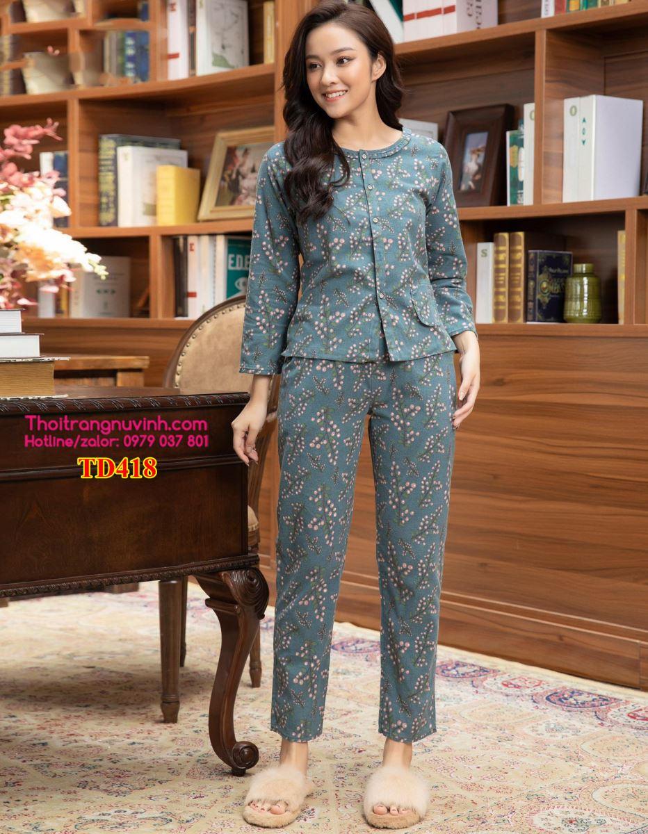 Bộ đồ mặc nhà nữ thu đông - TD418